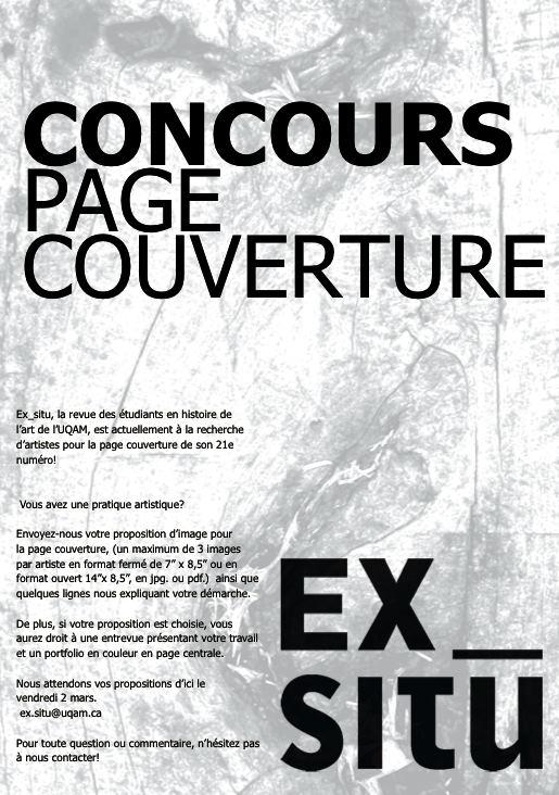 Concours page couverture
