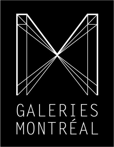 Logo de Galeries Montréal, création du logo, Pascal Champagne. Crédits : Galerie Montréal