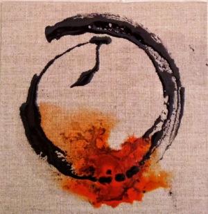 Calligraphie sur toile brute 1