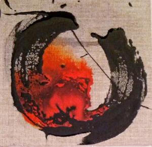 Calligraphie sur toile brute 2