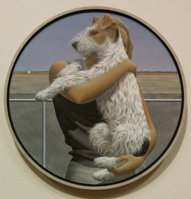 Colville-Femme et terrier